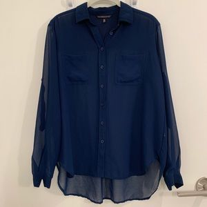 Victoria's Secret Navy Blue Shirt - Size XS